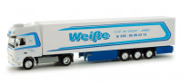 "158336 Автомобиль DAF XF 105 SSC refrigerated box trailer ""Spedition Weiße Berlin"" 1:87 @"