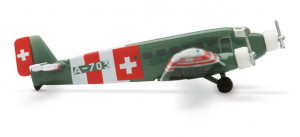 560740 Самолет Swiss Air Force Junkers JU-52 1:400