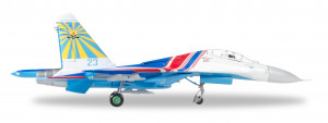 580212 Самолет Су-27 Russian Knights Aerobatic Demonstration Team Sukhoi SU-27UB (Flanker C) 237TSPAT - 237th Aviation Technology Demonstration Center (237TSPAT) - 23 blue 1:72