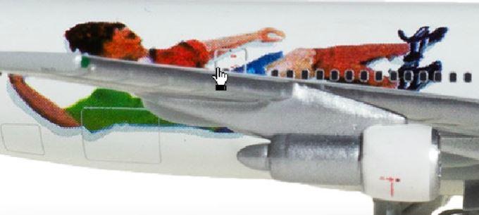 Фрагмент ливреи самолета