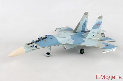 Масштабная модель военного самолета Су-30М2 ВВС России 27-ой смешанной авиадивизии 38-го истребительного полка 1:72