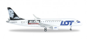 "526319 Самолет LOT Polish Airlines Embraer E175 ""Mike Tyson-Black Energy"" 1:500"