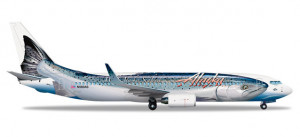Alaska Airlines Boeing 737-800 Salmon Thirty Salmon II 1:500