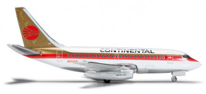 Самолет Continental Airlines Boeing 737-100 1:500