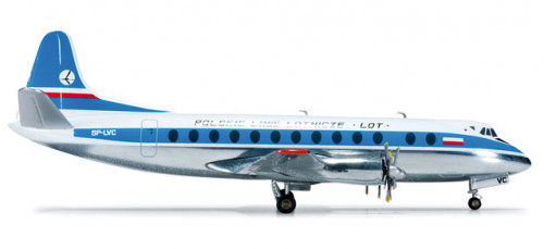 554657 Самолет LOT Polish Airlines Vickers Viscount 800 1:200