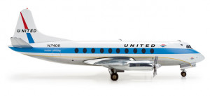 Самолёт United Airlines Vickers Viscount 700 1:200