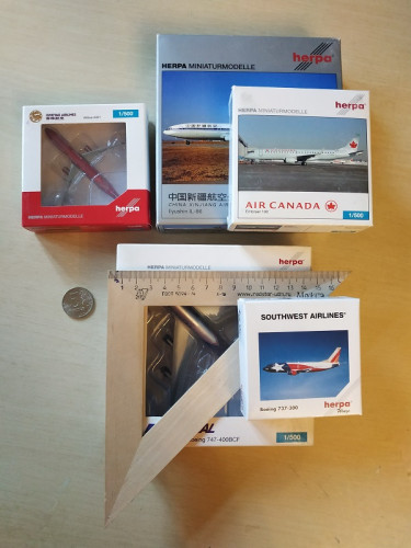 512404 Самолет Herpa Wings Promotion-Modell Boeing 747-400 1:500