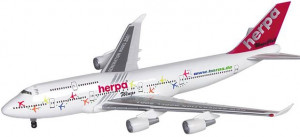 "512404 Самолет Herpa Wings Promotion-Modell Boeing 747-400 ""New Generation"" 1:500 *"