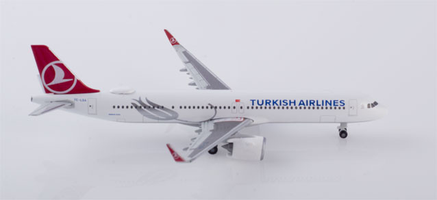 532853 Самолет Turkish Airlines Airbus A321neo 1:500