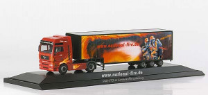 "120418 Тягач МАН MAN TGA XXL Jumbokoffer-Sattelzug ""National Fire"", PC 1:87"