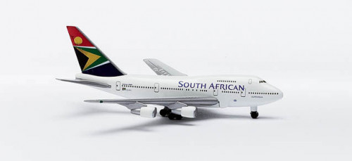 511872 Самолет Boeing 747SP South African Airways 1:500